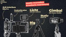 Erweiterte Mobile Journalism Ausrüstung